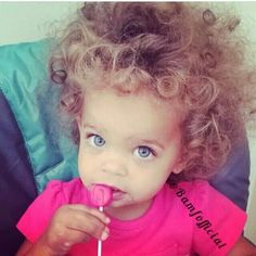 Mixed Baby With Blue Eyes And Blonde Hair
