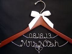 """Wedding Hangers / Bridal Hangers by Lori Lynn's Wedding Hangers  The perfect gift for the Bride and the wedding party. """"ALL HANGERS SHIP WITHIN 48 HOURS!""""  :)"""