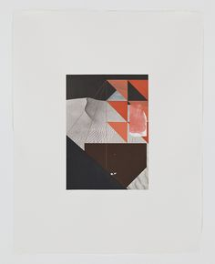 """Screen (dune), Gouache, collage, and pencil on archival pigment print on watercolor paper, 2009, 23"""" x 18.5"""""""