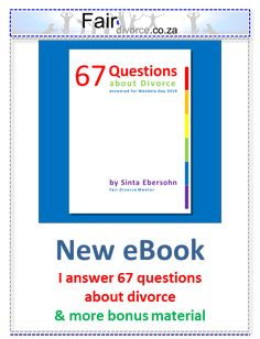 New eBook with insightful answers to 67 questions about divorce plus added bonus material for . Collaborative Divorce, Divorce And Kids, Co Parenting, All Family, Reading Material, Compassion, New Books, No Response, Advice