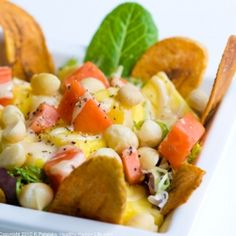 Aloha! Hawaii in a salad bowl. Big Kahuna Salad with Pineapple Tahini Dressing. Vegan.
