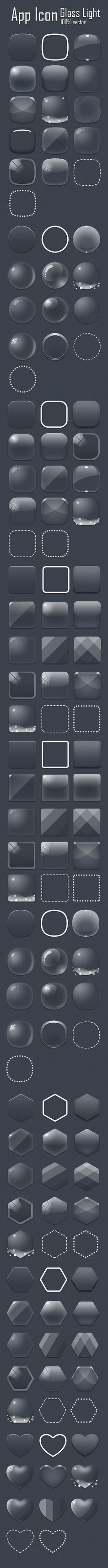 App icon glass light