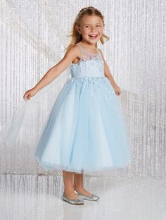 Alfred Angelo White  Silver Elsa Inspired Disney Princess Flower Girl Gown  Designer Flower Girl Dresses ef50e743180b