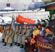 Russian Red Guards in the aftermath of the Russian Civil War Soviet Art, Soviet Union, Bolshevik Revolution, Communist Propaganda, Civil War Art, Socialist Realism, Russian Revolution, Political Art, Imperial Russia