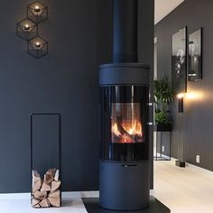Cove Lighting Ceiling, Ceiling Lights, Modern Wood Burning Stoves, Fire Places, Bungalows, Salons, New Homes, Stairs, Home Appliances