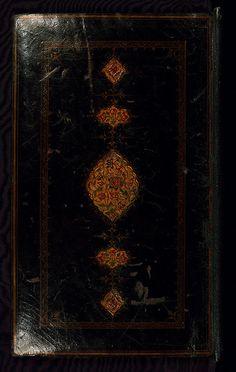 Illuminated Islamic Manuscript, Book of kings (Shahnama), Binding, Walters Art Museum Ms. W.600, Upper board outside
