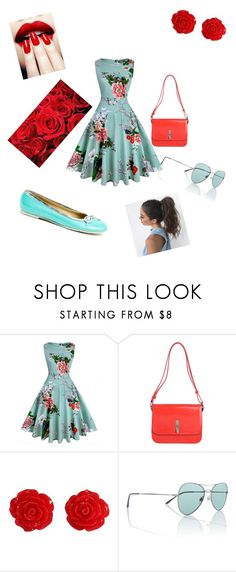 """Türkis with Red"" by lookeva ❤ liked on Polyvore featuring Tosca Blu, Collectif and Versace 19•69"