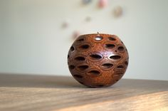 Banksia tea light candle holder. Unique home decor handmade in Western Australia. Great gift idea via etsy