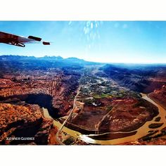 Aerial view of Moab and surrounding area - from Redtail Aviation. Colorado Plateau, Aerial View, Aviation, Aircraft
