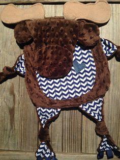 Moose Blanket Moose Blankie Security Blanket Sensory by TiedByTi
