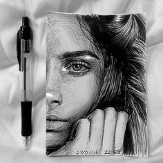 Repost from @marianneh.art  Portrait of @caradelevingne  Ballpoint pen and white pen #caradelevigne #art#pendrawing   FOLLOW @zbynekkysela & TAG your artworks #DRKYSELA to be FEATURED!  HOT TIPS CLICK link in my profile   via http://instagram.com/zbynekkysela