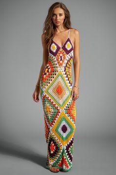 Pretta Crochet: Crochet Dress Indah Square syra With diagrams