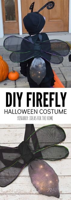 Learn how to make DIY wings for a kids firefly costume for Halloween, playing dress-up or for acting in a school or community theatre play. This sewing tutorial will show you step by step how to make lightning bug wings that really light up!