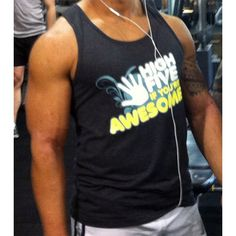Singlet: High Five If You're Awesome (Masculine Fit). Personal trainer winning in Awesome tank!