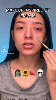 Cool Makeup Looks, Creative Makeup Looks, Crazy Makeup, Cute Makeup, Gorgeous Makeup, Eye Makeup Designs, Eye Makeup Art, Makeup Emoji, Amazing Halloween Makeup