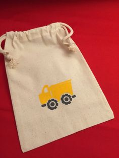 8 x Construction Party Loot Bags Boys Birthday Supplies Truck Goody Treat Empty