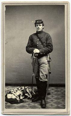 A Federal Cavalryman and His Dalmatian | Flickr - Photo Sharing!