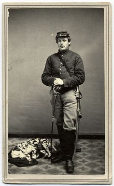 A Federal Cavalryman and His Dalmatian | Flickr - Photo Sharing!