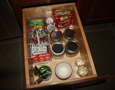 toddler friendly snacks drawer so he can get his own snacks