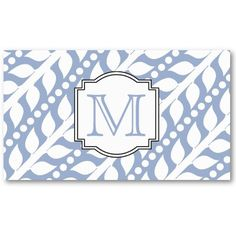 Beanstalk Leaves and Dots - Lt Blue White Business Card