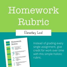 Homework rubric ela