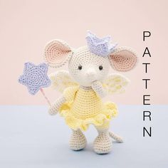 BEFORE YOU PROCEED PLEASE NOTE THAT THIS LISTING IS FOR THE PATTERN ONLY AND NOT THE FINISHED DOLL AND NO REFUNDS CAN BE OFFERED ON DIGITAL PURCHASES. This is an original pattern (in English using American terminology) to create your own gorgeous little fairy princess mouse, Lucy.