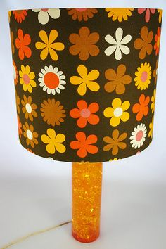 vintage 1960s shatterline lamp with Genia Sapper lampshade by H is for Home, via Flickr