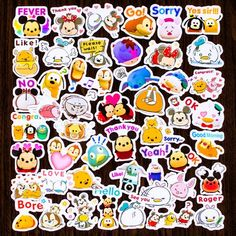 Sticker size: 2 or quantity: 40 pcs color: as photos +Many cute and funny items in our store ^_^ Le Face, Minnie Bow, Disney Tsum Tsum, Waterproof Stickers, Kawaii Cute, Cute Stickers, Flakes, Primary Colors, Stationary