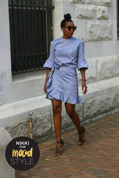 Mood Style: Ruffle Wrap Skirt and Bell Top Casual Wear, Casual Dresses, Summer Dresses, Mood Designer Fabrics, Mood Fabrics, Inspiration Mode, African Fashion Dresses, Denim Fashion, Dress Patterns