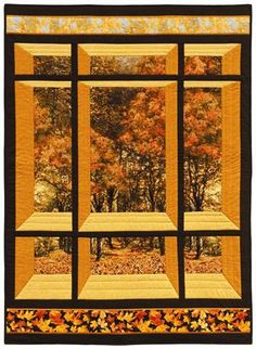 High Resolution Attic Window Quilt Pattern Window On The East Quilt Pattern Patchwork Quilting, 3d Quilts, Fall Quilts, Blue Quilts, Quilting Projects, Quilting Designs, Small Quilt Projects, Quilting Ideas, Attic Window Quilts