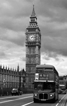 "Saatchi Art Artist: Vincent Abbey; Digital 2006 Photography ""Old London Bus & Big Ben"""