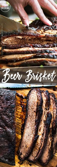 Unbelievably tender brisket after hours of braising low and slow in a flavorful beer and balsamic infused liquid. Braised Brisket, Smoked Beef Brisket, Smoked Ribs, Cooking With Beer, Cooking Tips, Beer Brisket Recipe, Beef Tenderloin Roast, Roast Beef, Roast Chicken And Gravy