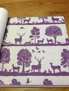 Woodland scene wallpaper by Voyage 'Country' Wall Art - other colours available @ Cotton Tree Interiors UK (+44)1728 604700