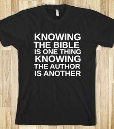 d902f5e185 KNOWING THE BIBLE - glamfoxx.com - Skreened T-shirts, Organic Shirts,