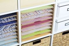 Get the custom-fit seat pad for your Ikea Kallax seat. Kallax Hack bench seat in three top colors fi Scrapbook Storage, Scrapbook Organization, Scrapbook Supplies, Baby Scrapbook, Scrapbook Paper, Ikea Expedit Shelf, Ikea Regal Expedit, Organisation Ikea, Ikea Sofas