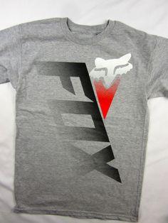 Fox Racing Moto-X FMX tee shirt men's gray regular fit size SMALL #FoxRacing #GraphicTee