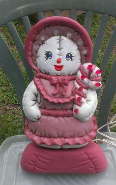 Santa light-up Ms. Santa Clause Beautiful rose pink color Vint.-1993 SALE! EBay ID's  debpark94_attic   & tigerllc24