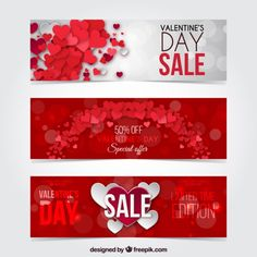 bold valentines day banners