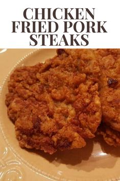 Chicken Fried Pork Steaks – create a delicious dinner with cubed pork. Dredged in perfectly sized flour and fried to perfection. Cubed Pork Recipes, Pork Cutlet Recipes, Cube Steak Recipes, Fried Chicken Recipes, Recipe For Pork Steak, Meat Recipes, Delicious Recipes, Yummy Food, Pork Cube Steaks