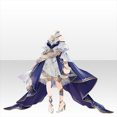 結びのフロラシオン|@games -アットゲームズ- Dress Drawing, Drawing Clothes, Fashion Design Drawings, Fashion Sketches, Anime Angel Girl, Anime Dress, Female Character Design, Themed Outfits, Anime Outfits