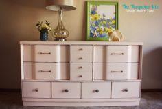 Painted Furniture, Mid Century Vintage Dresser by TheTurquoiseIris on Etsy, $495.00