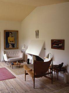 Finn Juhl, his livingroom untouched since 1989, Photo: Pernille Klemp - Ordrupgaard :: arcspace.com