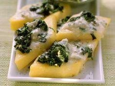Spinat-Polentaschnitten mit Gorgonzola