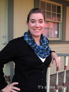 flannel infinity scarf.......love this!!