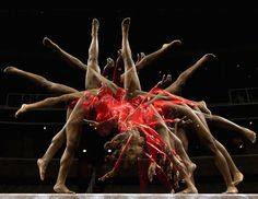 Multiple Exposure Photos of Gymnasts, Kennedy Baker