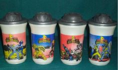 vasos de los power rangers
