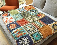 Cool afghan, free pattern - gotta try this.