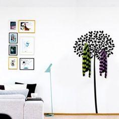 vinilo decorativo perchero rbol