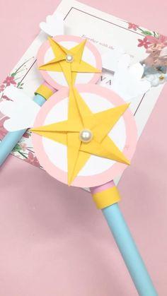 Diy Crafts Hacks, Diy Crafts For Kids, Fun Crafts, Cool Paper Crafts, Paper Crafts Origami, Instruções Origami, Origami Flowers, Diy Wand, Towel Crafts