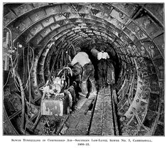 Sewer tunnelling under London 1909